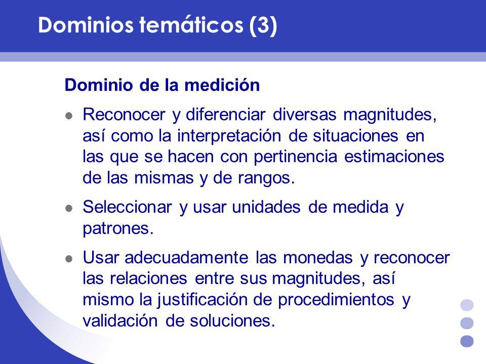 Dominio Estadístico Interpretación de situaciones, selección, recolección, organización e interpretación de información.