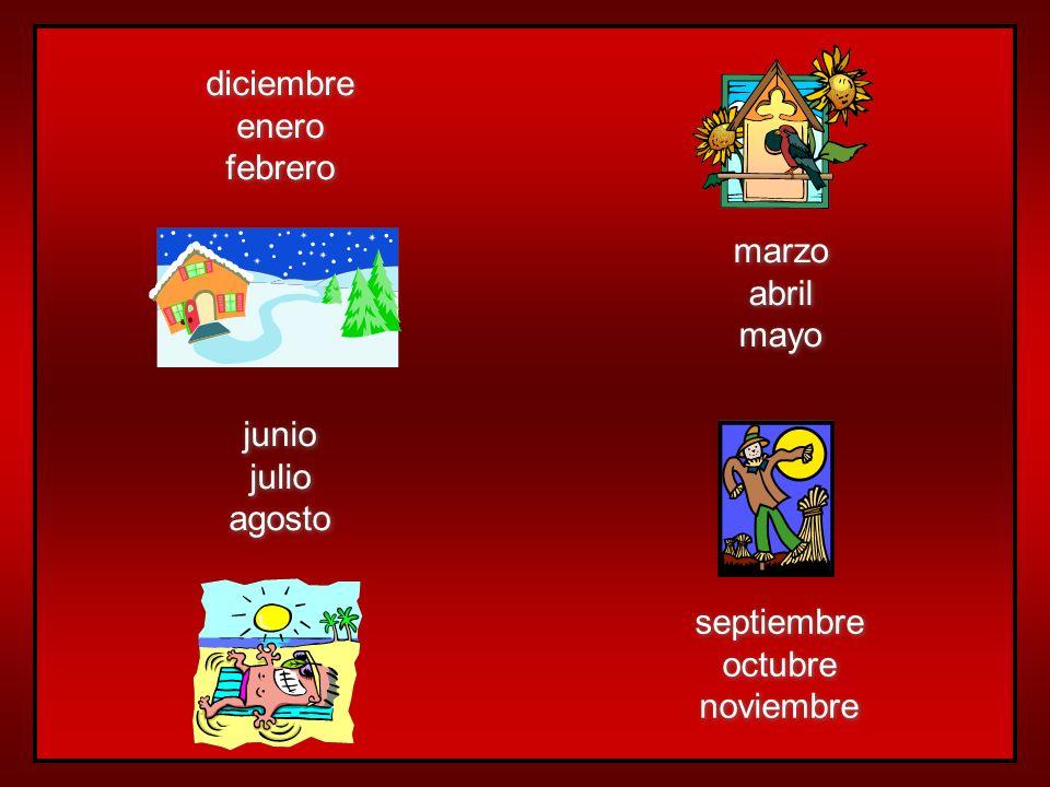 Las estaciones del año… el invierno la primavera el verano el otoño