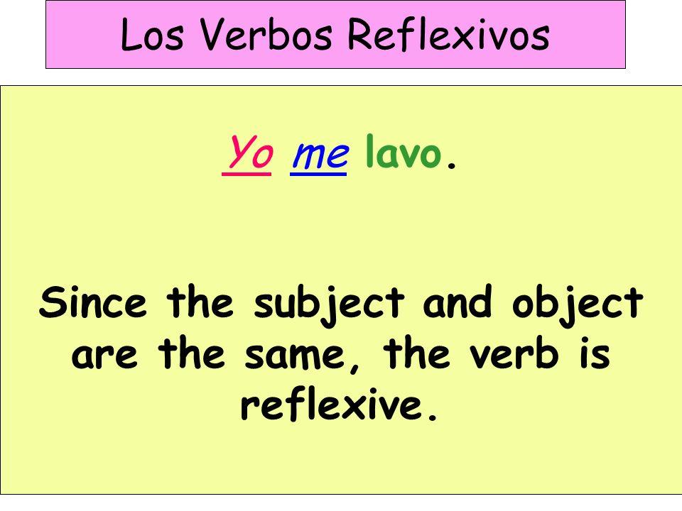 Los Verbos Reflexivos I wash the car.