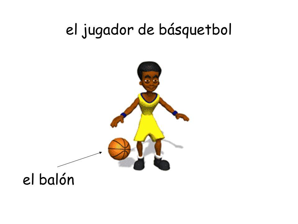 el jugador de básquetbol el balón
