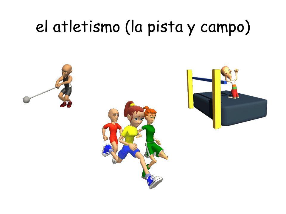 el atletismo (la pista y campo)