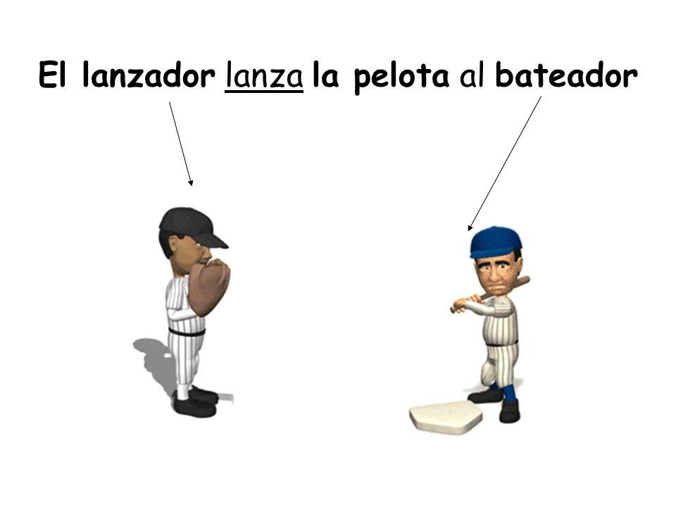 El lanzador lanza la pelota al bateador