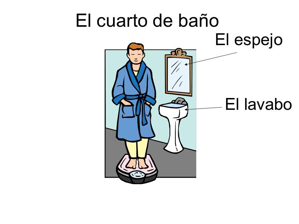 El lavabo El espejo El cuarto de baño