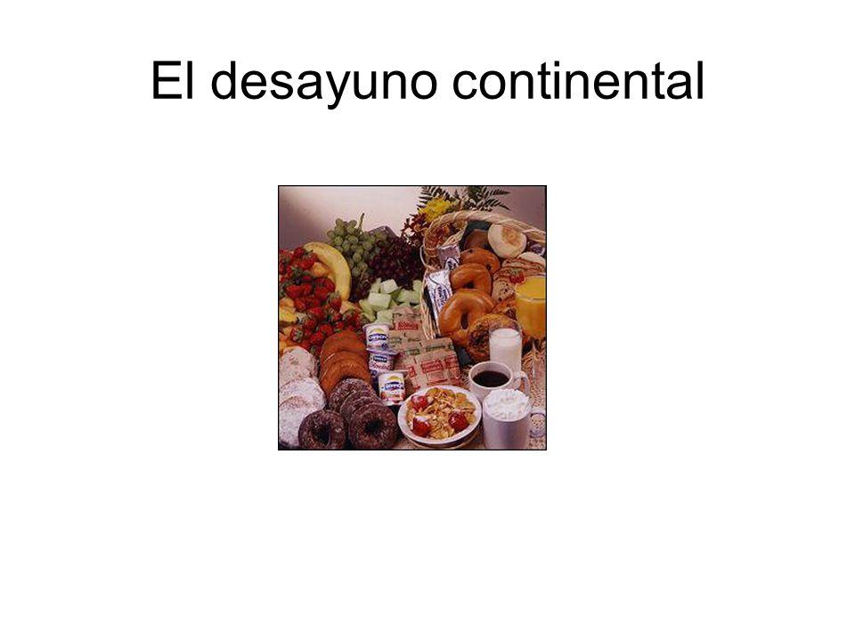 El desayuno continental