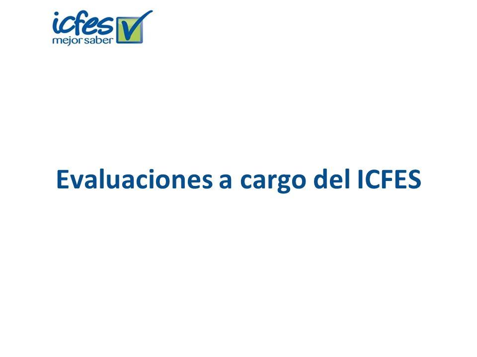 Evaluaciones a cargo del ICFES