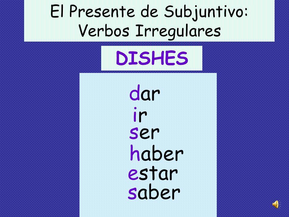 -a-amos -as -a -áis -an El Presente de Subjuntivo -er/-ir