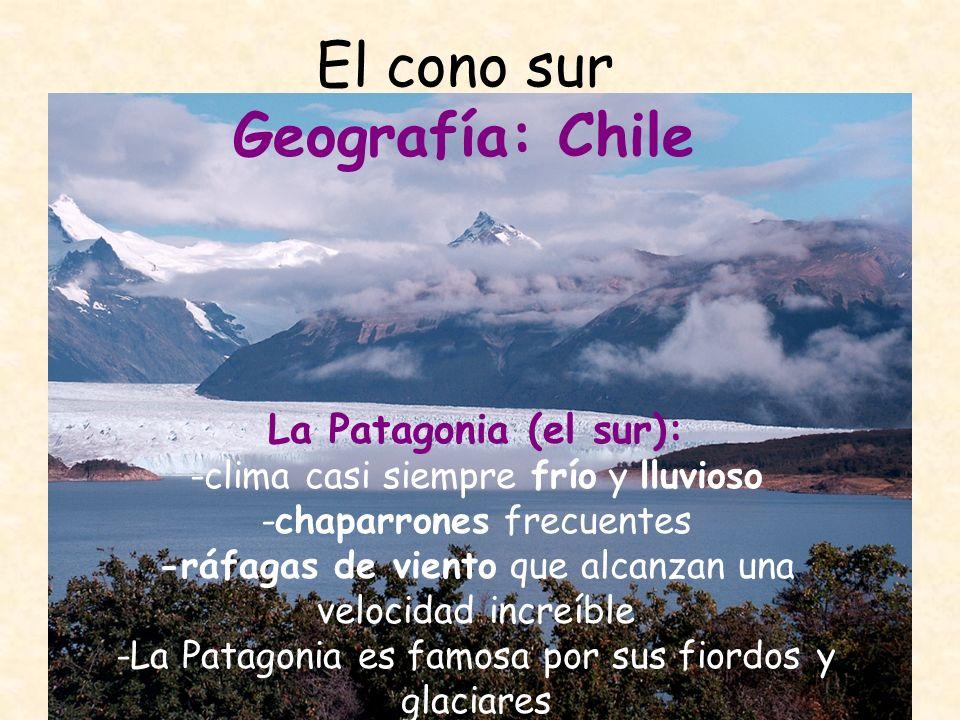 El cono sur Geografía: Argentina segundo mayor país de Sudamérica dividido en cuatro regiones naturales: -Las llanuras del nordeste -Los Andes del noroeste -La pampa -La Patagonia y Tierra del Fuego