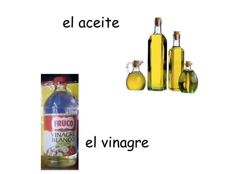 el aceite el vinagre