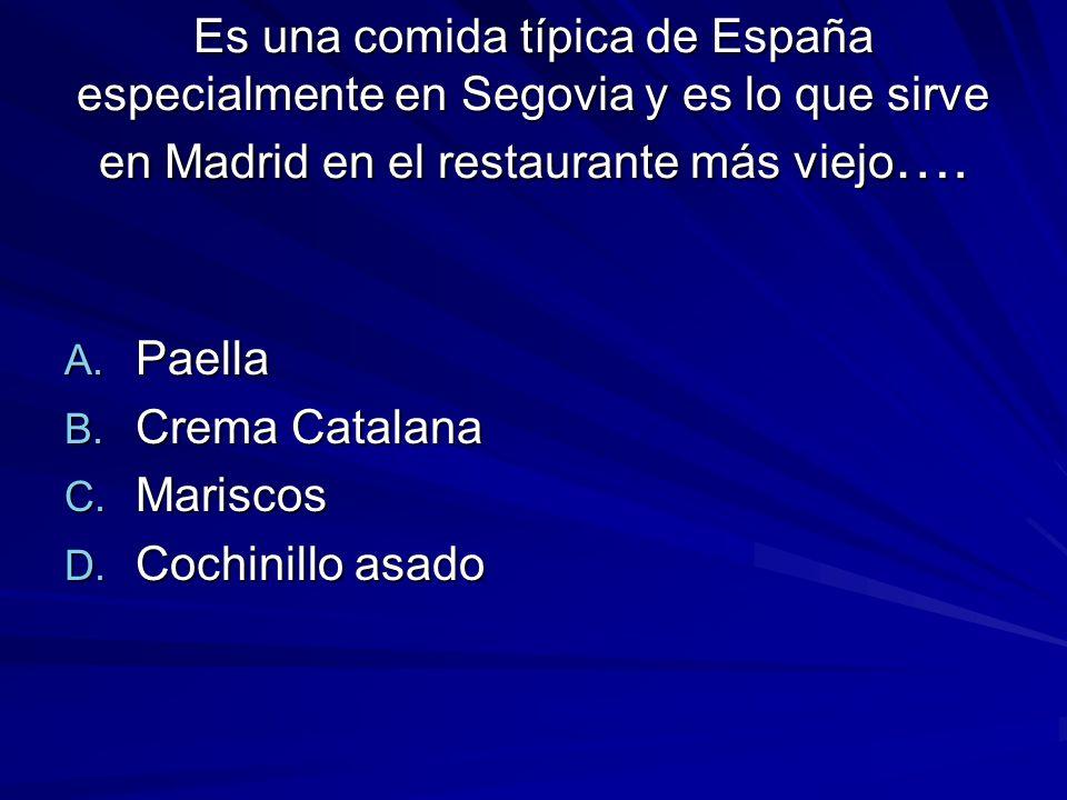 Es una comida típica de España especialmente en Segovia y es lo que sirve en Madrid en el restaurante más viejo ….