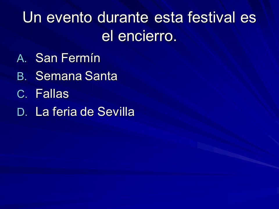 Un evento durante esta festival es el encierro. A.