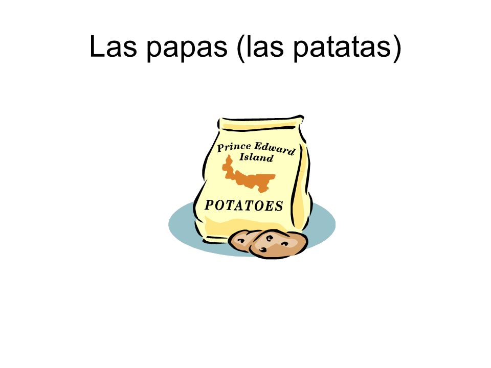 Las papas (las patatas)