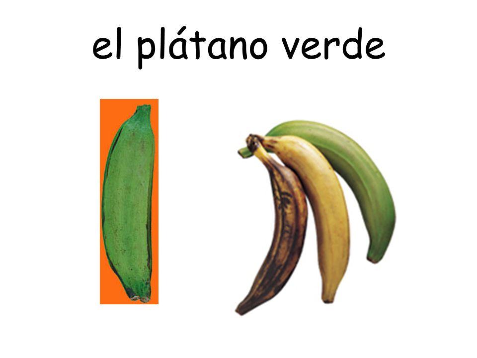 el plátano verde