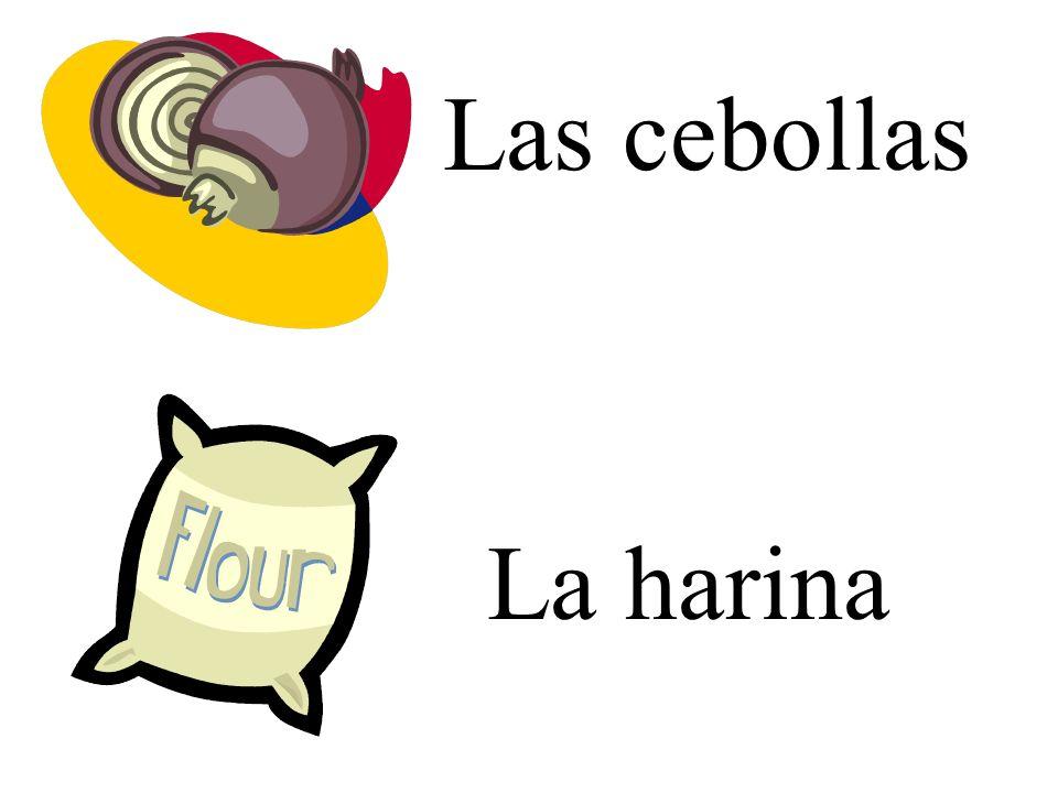 Las cebollas La harina