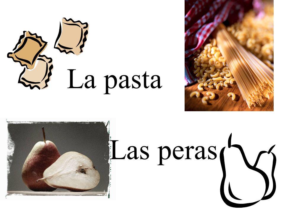La pasta Las peras