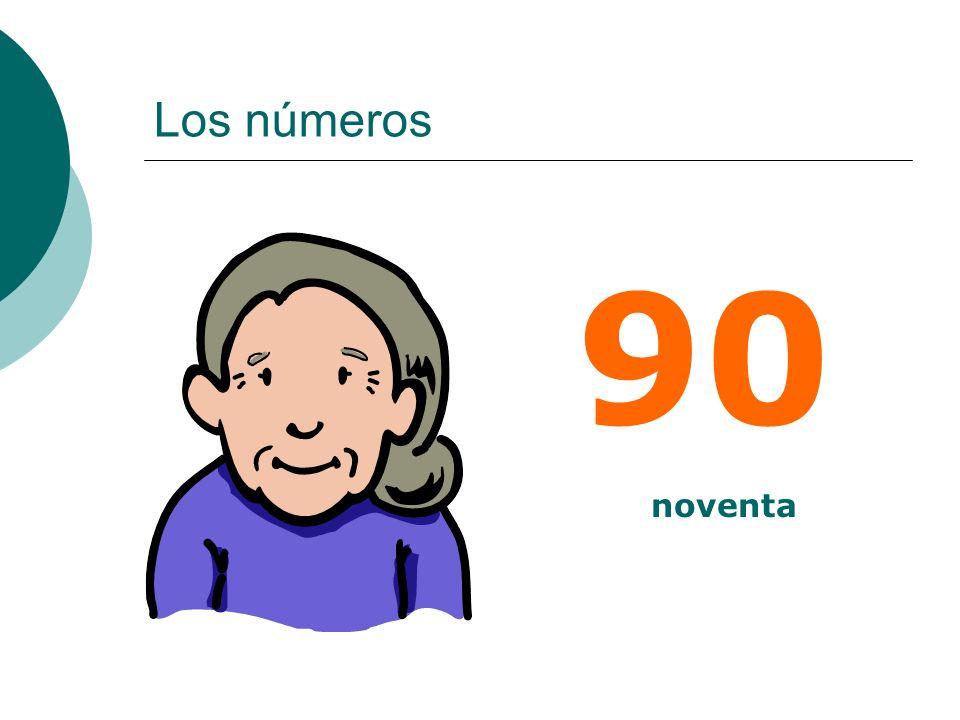 Los números 90 noventa