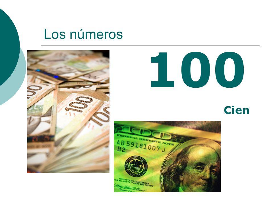 Los números 100 Cien