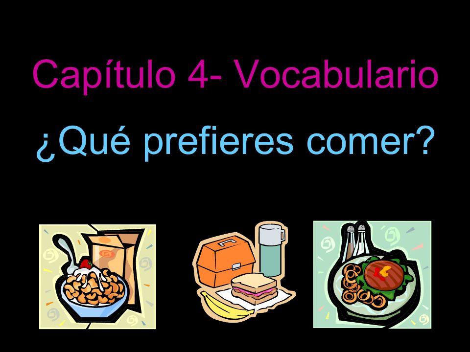 Capítulo 4- Vocabulario ¿Qué prefieres comer?
