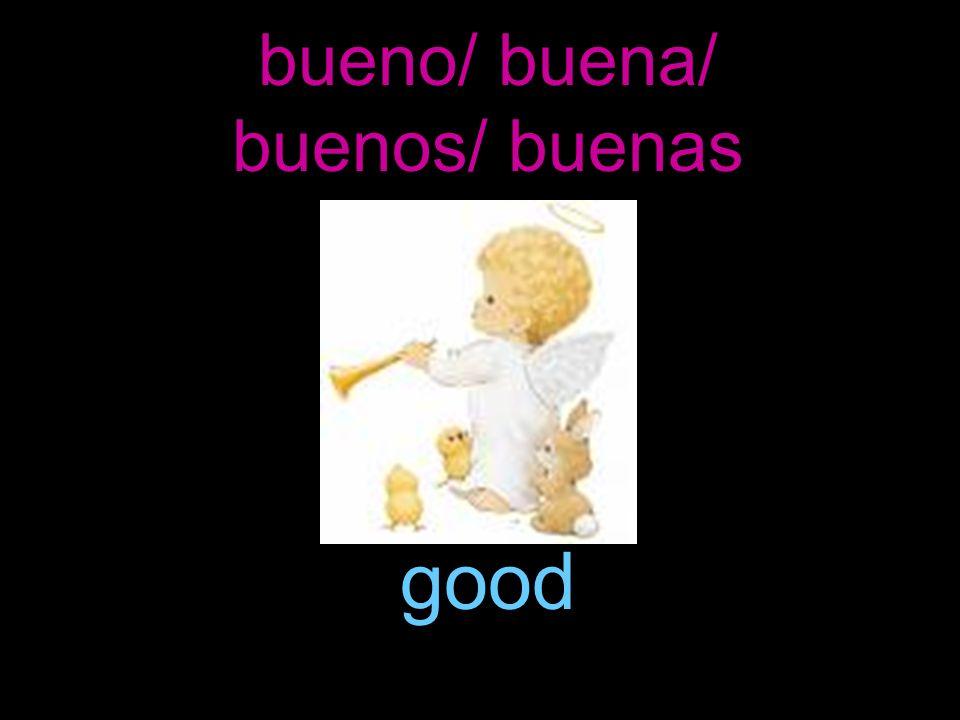 bueno/ buena/ buenos/ buenas good