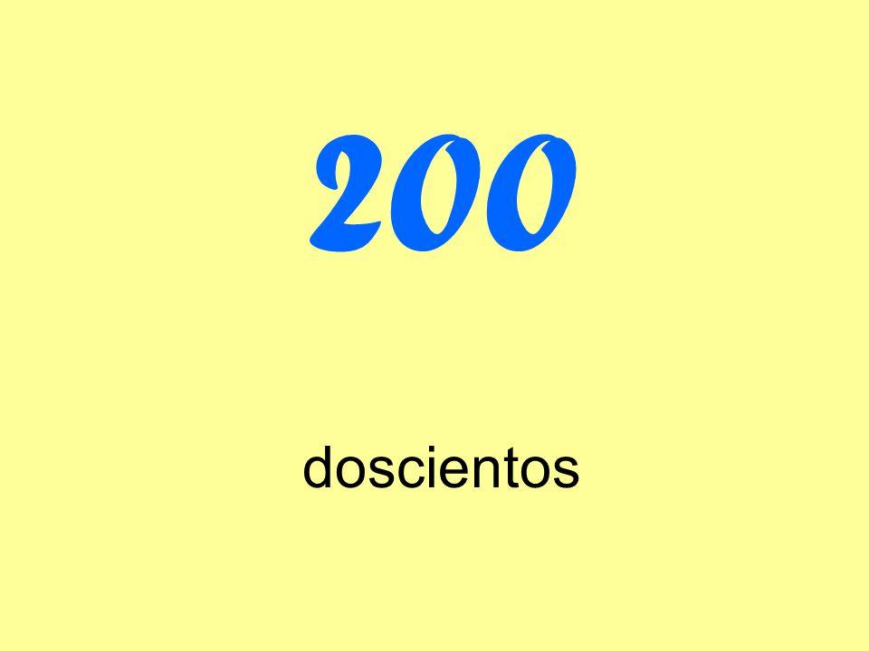 200 doscientos
