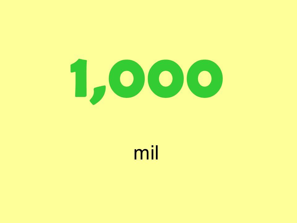 1,000 mil