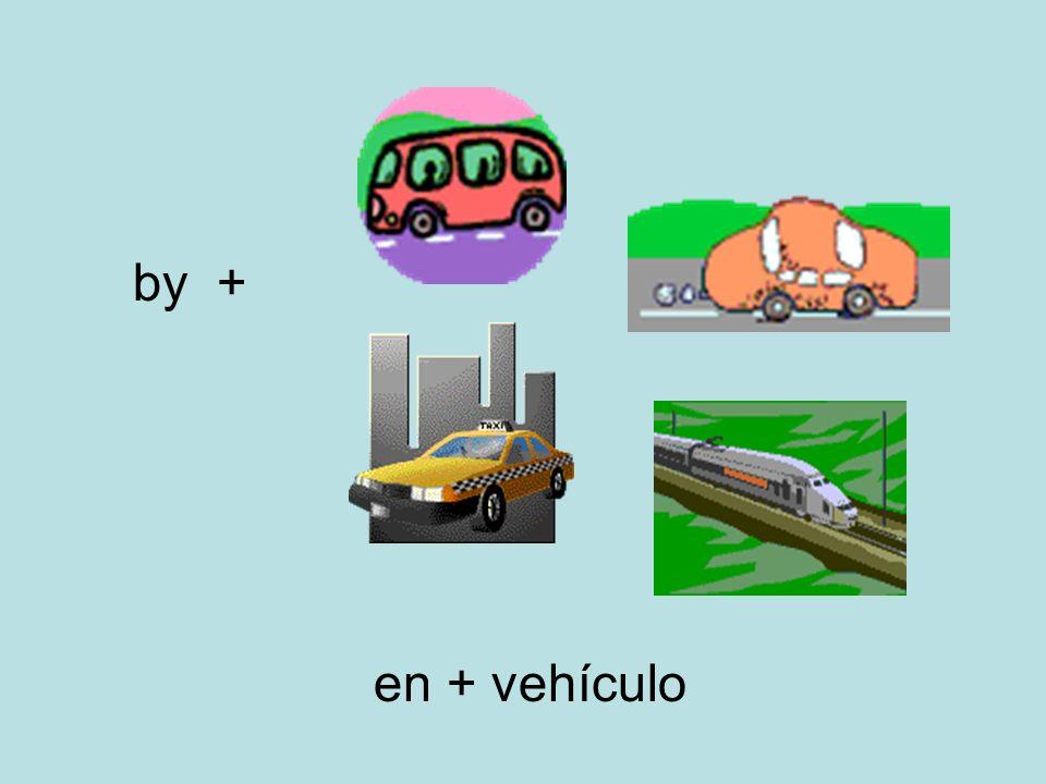 by + en + vehículo