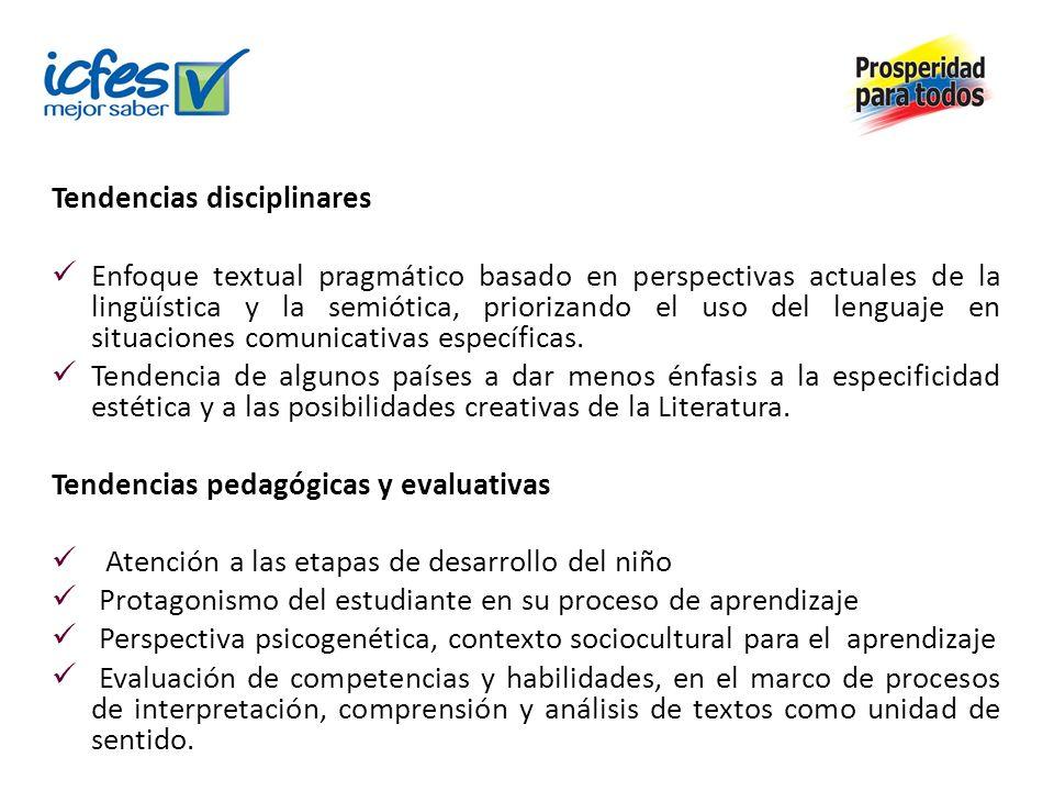 Tendencias disciplinares Enfoque textual pragmático basado en perspectivas actuales de la lingüística y la semiótica, priorizando el uso del lenguaje