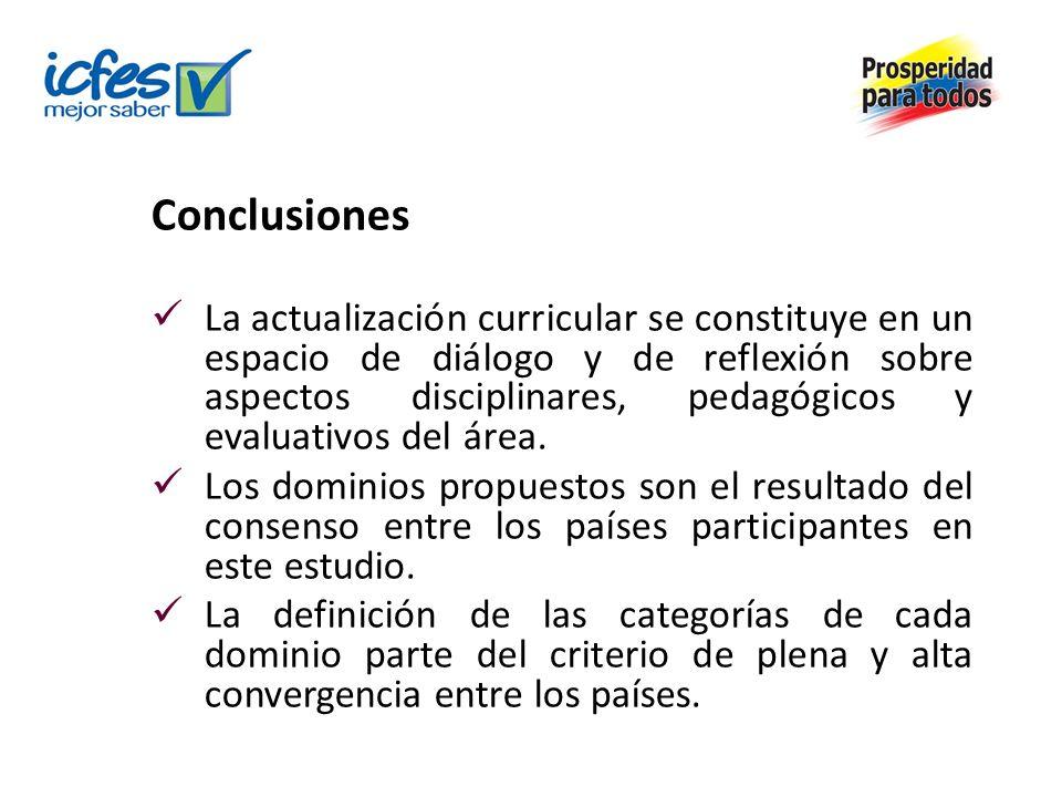 Conclusiones La actualización curricular se constituye en un espacio de diálogo y de reflexión sobre aspectos disciplinares, pedagógicos y evaluativos