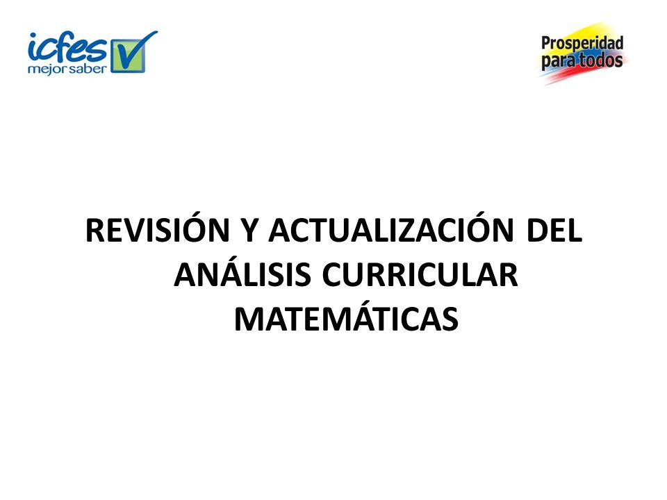 REVISIÓN Y ACTUALIZACIÓN DEL ANÁLISIS CURRICULAR MATEMÁTICAS