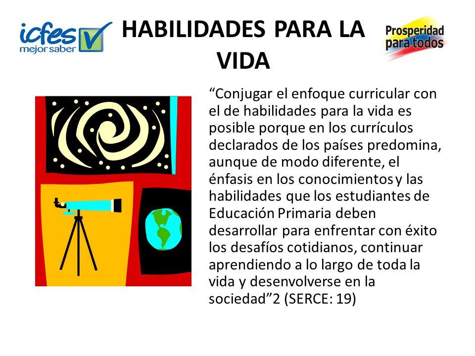 HABILIDADES PARA LA VIDA Conjugar el enfoque curricular con el de habilidades para la vida es posible porque en los currículos declarados de los paíse