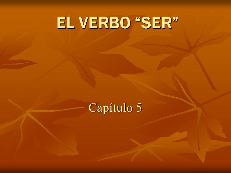 EL VERBO SER Capítulo 5