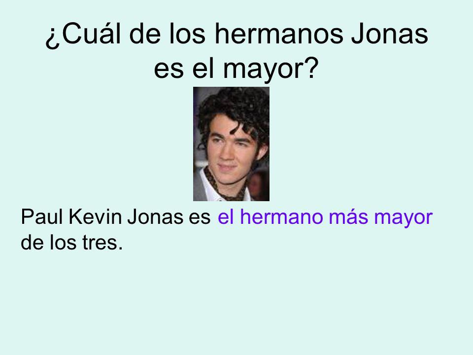 ¿Cuál de los hermanos Jonas es el mayor? Paul Kevin Jonas es de los tres. el hermano más mayor