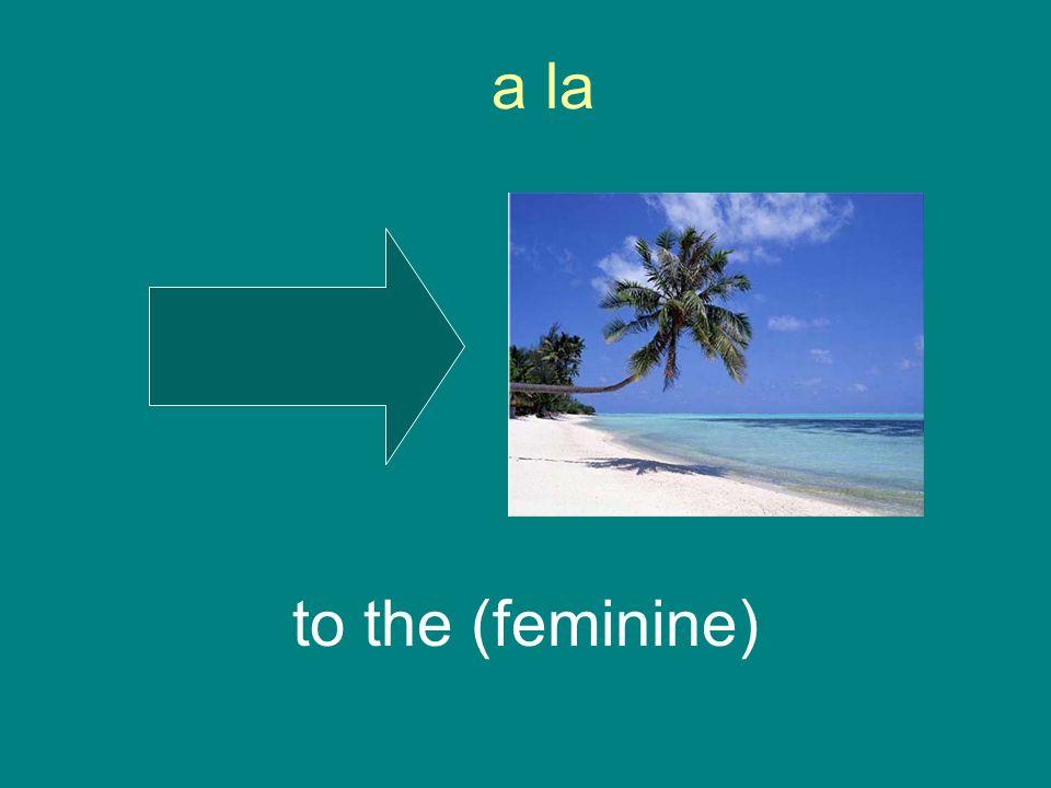 a la to the (feminine)