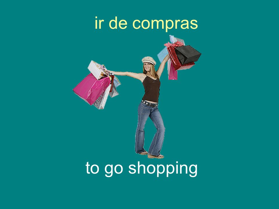 ir de compras to go shopping