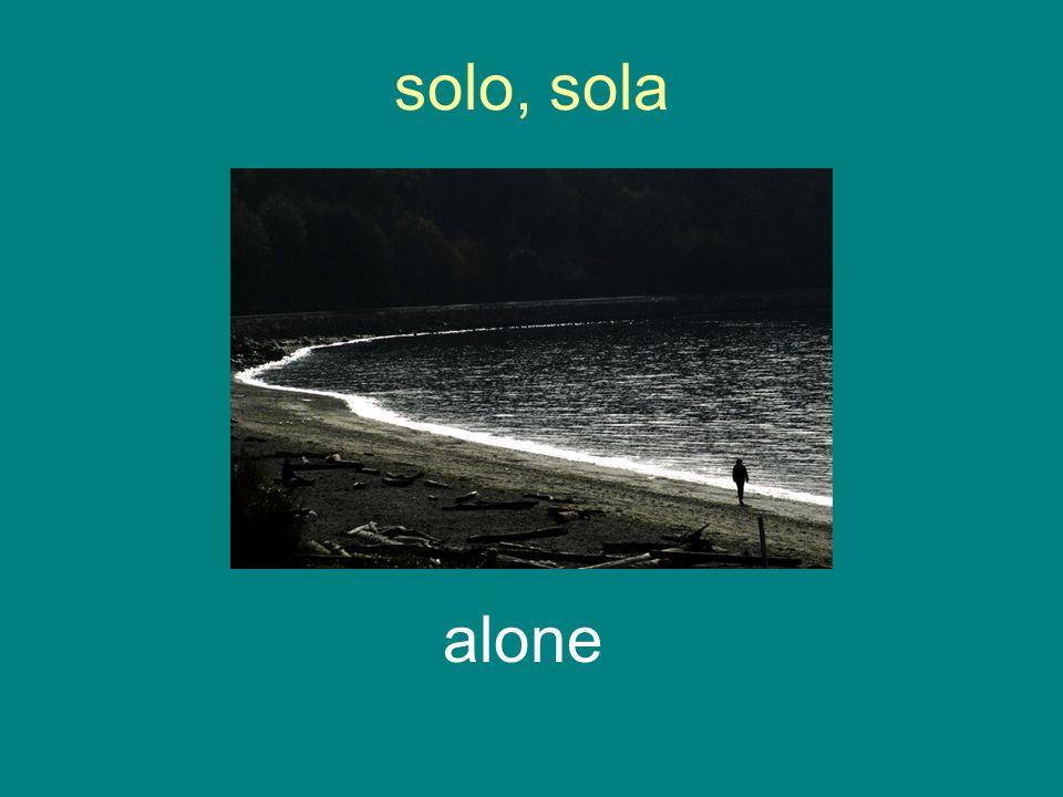 solo, sola alone