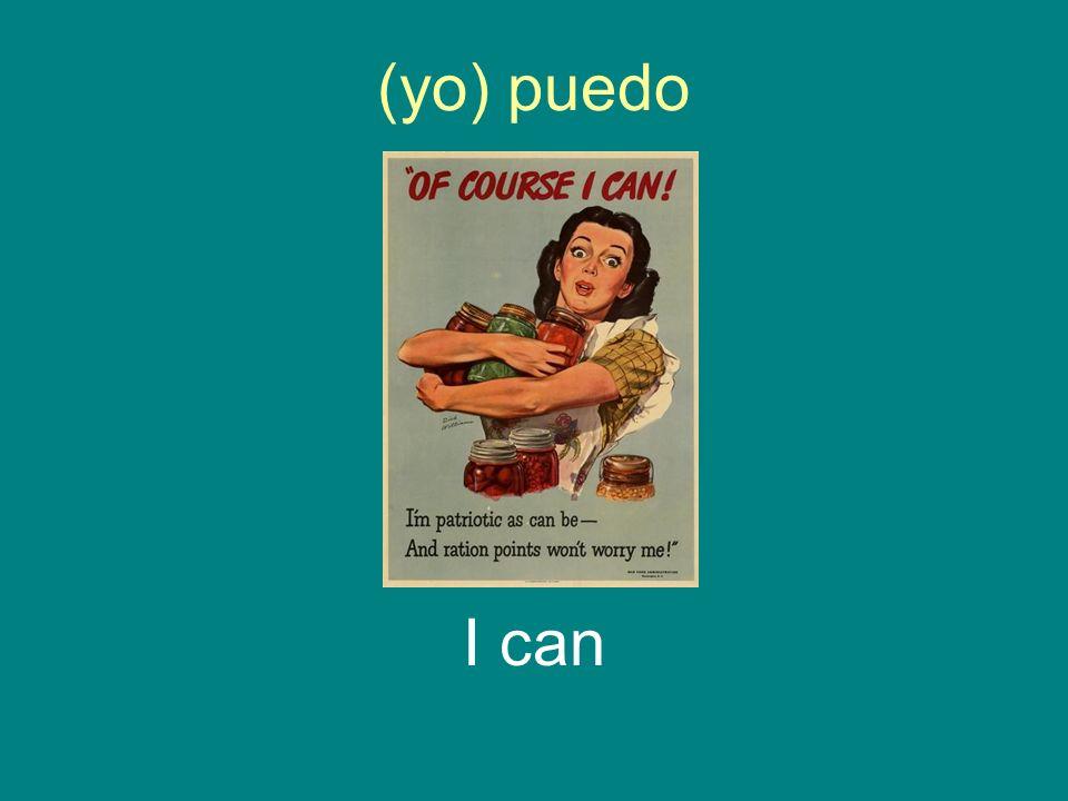 (yo) puedo I can