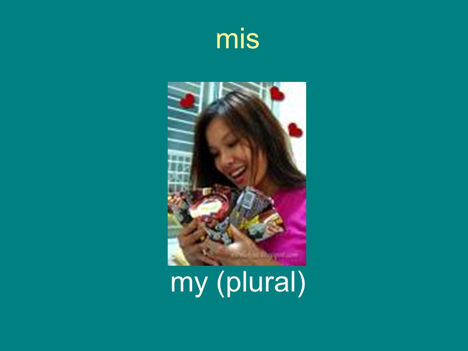 mis my (plural)