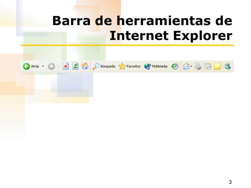 3 Barra de herramientas de Internet Explorer