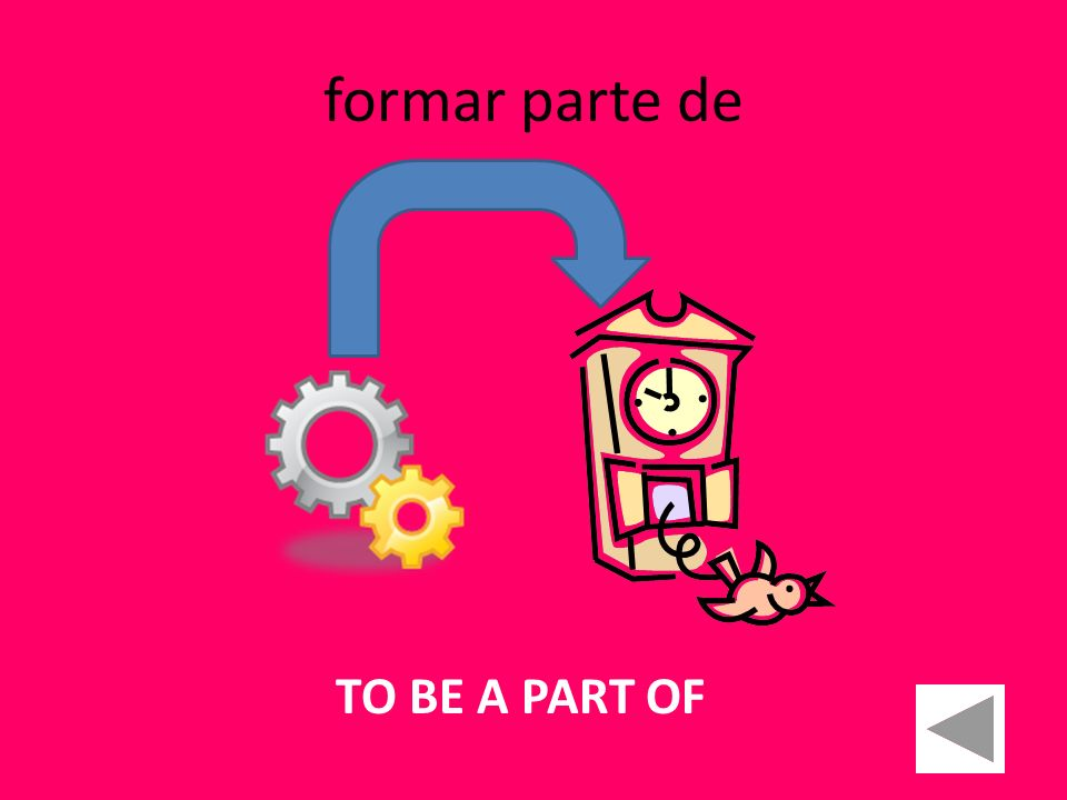 formar parte de TO BE A PART OF