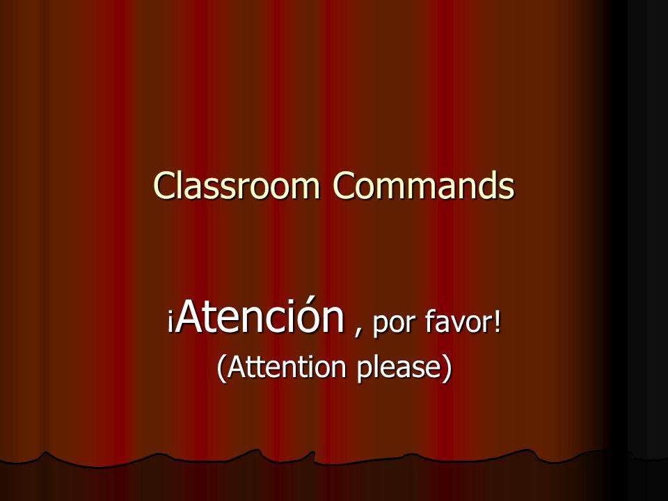 ¡Silencio, por favor! Silence please!