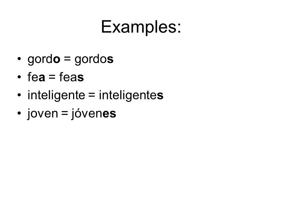 To describe people and physical traits… Rubio (a) Pelirrojo (a) Moreno (a) / Castaño(a) Canoso (a) Calvo Viejo (a) Alto (a) Bajo (a) Gordo (a) Delgado (a) Flaco (a) Bonito (a) Feo (a) Guapo (a) Largo (a) Corto (a) Grande Pequeño (a)