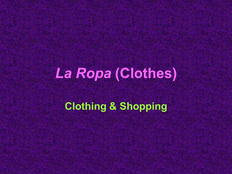 Ir de compras (Shopping) el dependiente la dependienta –(salesperson) ¿En qué puedo servirle.