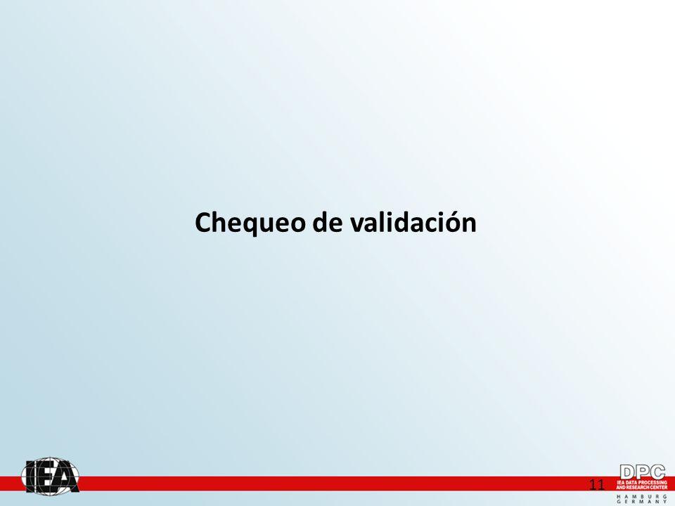 11 Chequeo de validación