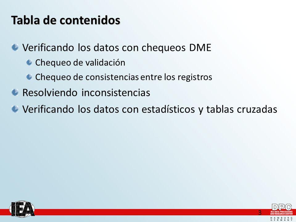 4 Verificando los datos con chequeos DME