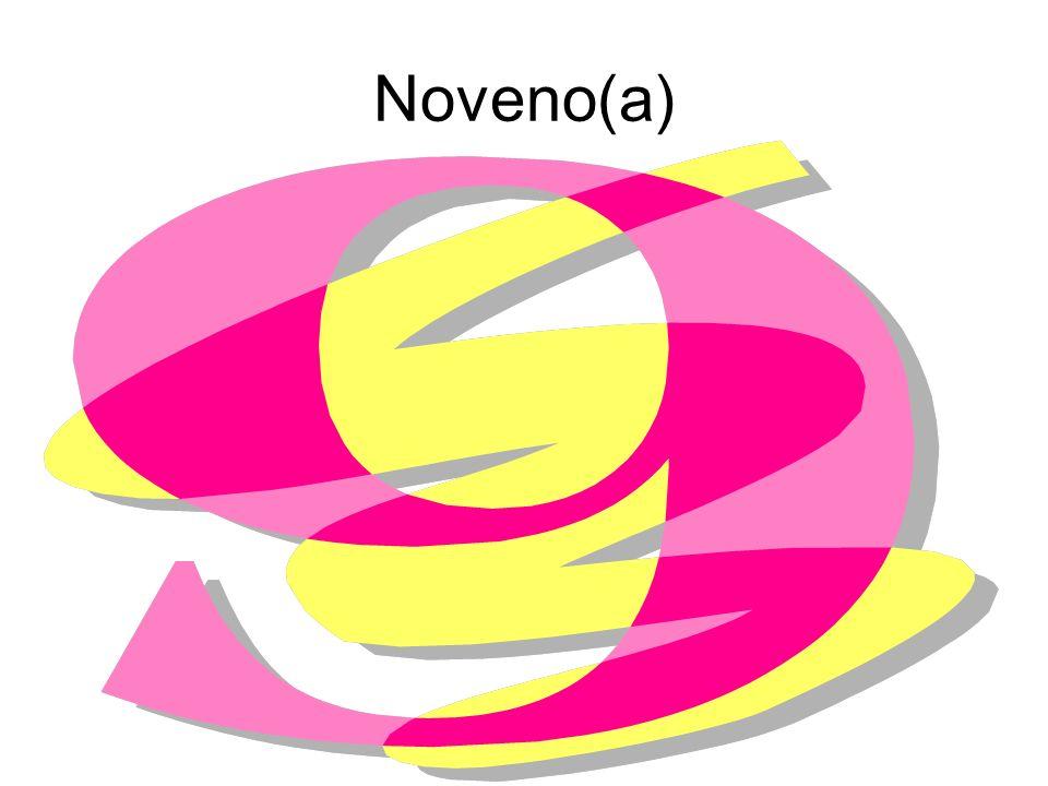 Noveno(a)