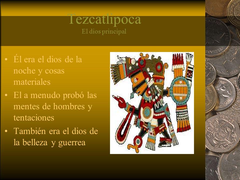 Quetzalcoatl El dios de la civilización y aprender Su pirámide era la Pirámide del Sol en Teotihuacan El nombre Quetzalcoatl significa serpiente de quetzal-pájaro Tuvo un papel mayor en la creación del quinto mundo