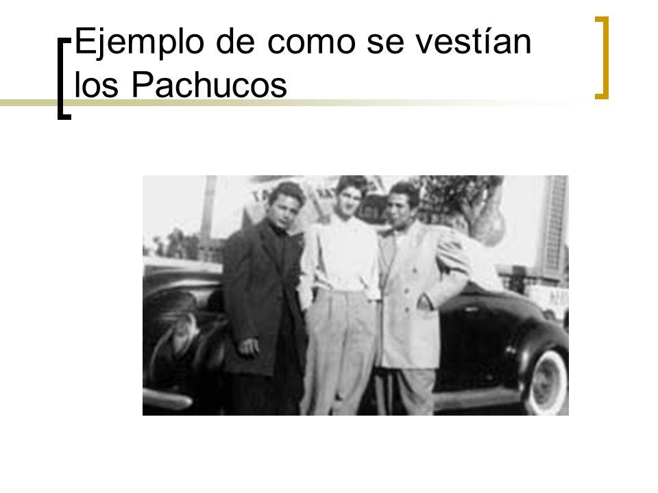 Ejemplo de como se vestían los Pachucos