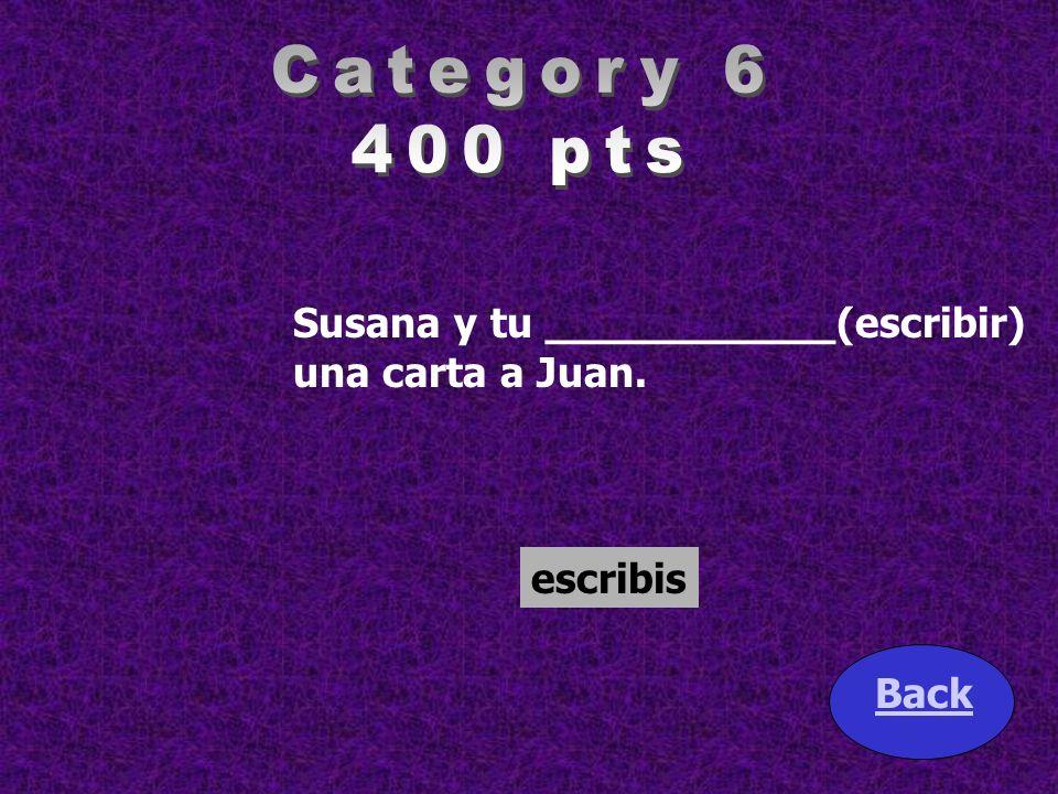 Sra. Tamez __________ (calificar) los examenes. Back califica
