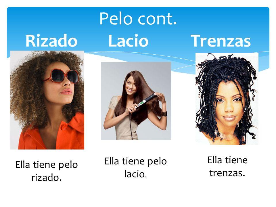 Pelo Lucia tiene el pelo castaño.Ella es morena. Shakira es rubia.