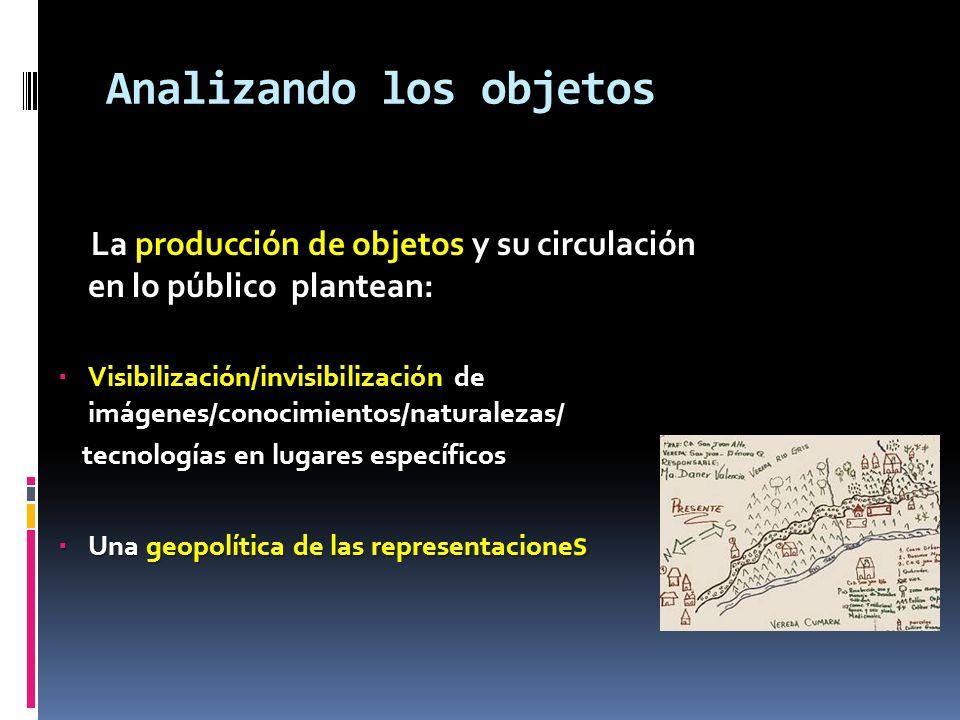 Analizando los objetos La producción de objetos y su circulación en lo público plantean: La producción de objetos y su circulación en lo público plant