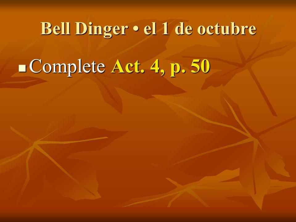 Español 2 el 1 de octubre